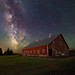 Milky Way - old red barn