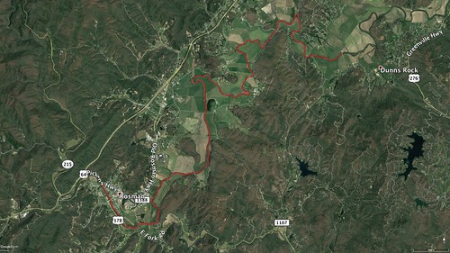 French Broad Section I Paddle Route