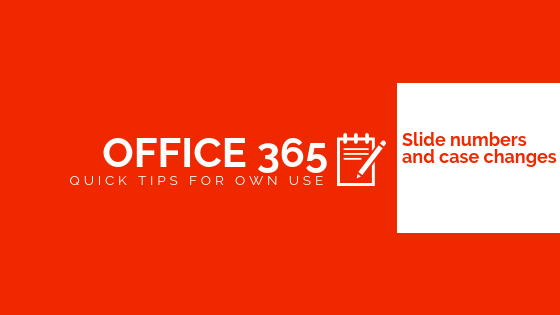 Office 365 quick post