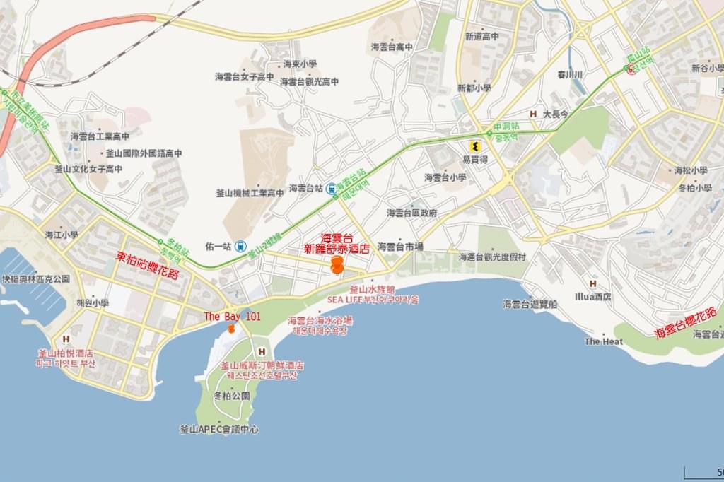 Shilla Stay Haeundae Busan Map 3