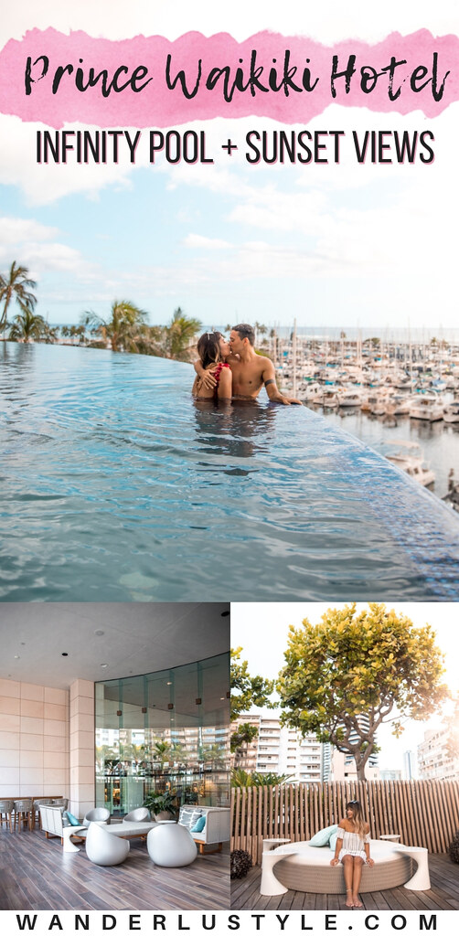 Prince Waikiki Hotel Review - Beautiful Infinity Pool, Pacific Ocean, Harbor, Waikiki Sunset Views | Wanderlustyle.com
