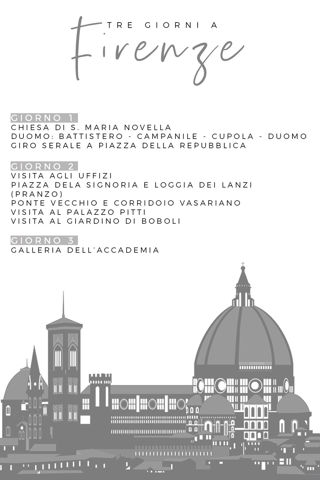 Firenze Trip Organizer