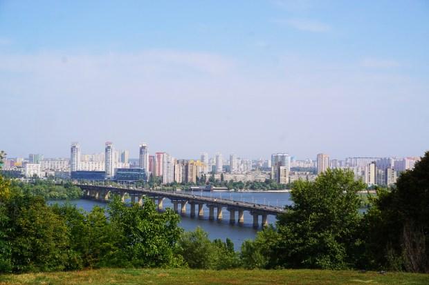 Paton Bridge, across the Dnieper River