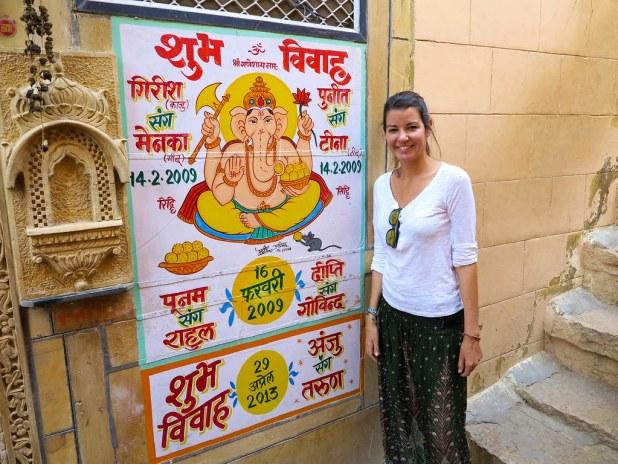 Pinturas en las calles de Jaisalmer