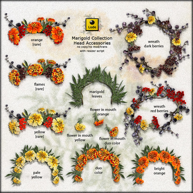 LODE Head Accessories - Marigold Collection