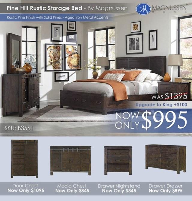 Pine Hill Rustic Storage Bed B3561_AugUpdateALT