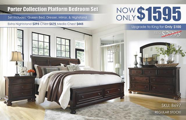 Porter Platform Bedroom Set_B697_RS