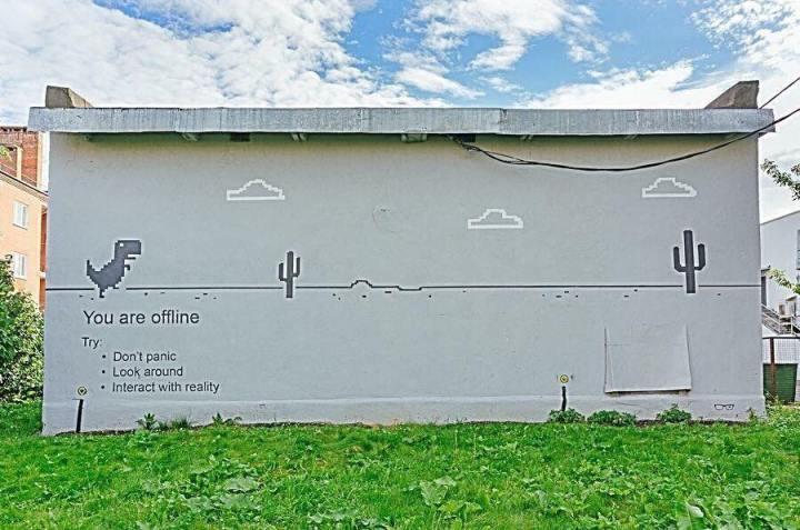 Dinosaurio Chrome Mural