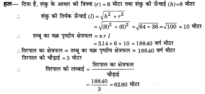 NCERT Solutions for Class 9 Maths Chapter 13 Surface Areas and Volumes (Hindi Medium) 13.3 5