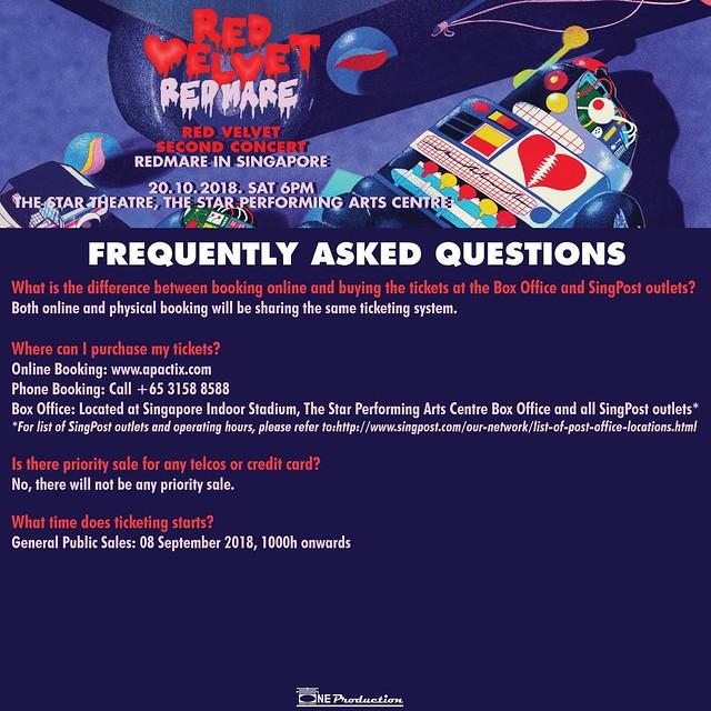 Red Velvet 'REDMARE' Concert in Singapore FAQ01