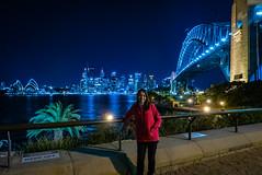 Cheryl with Sydney Skyline
