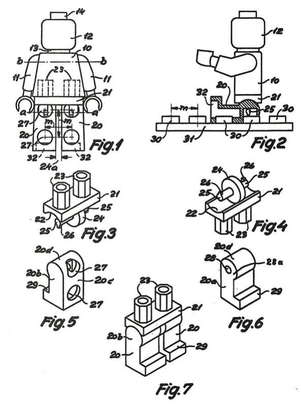LEGO minifigure brevet