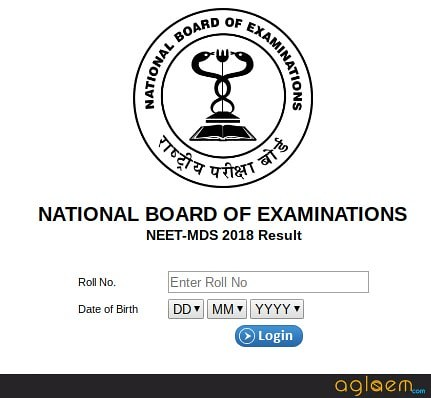 NEET MDS 2019 Result (Announced)   Check Here!