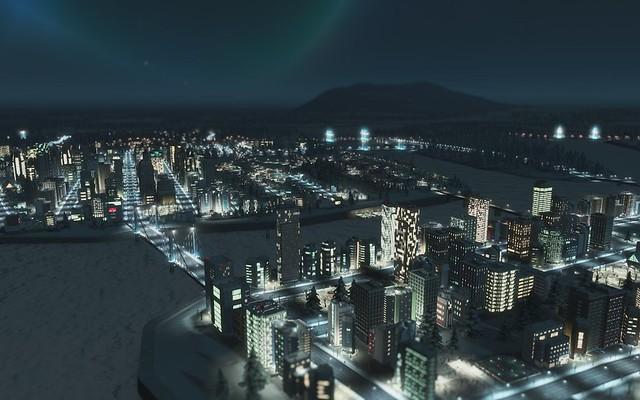 Města Skylines - Night Time Město
