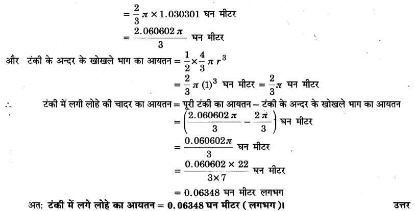 UP Board Solutions for Class 9 Maths Chapter 13 Surface Areas and Volumes 13.8 6.1