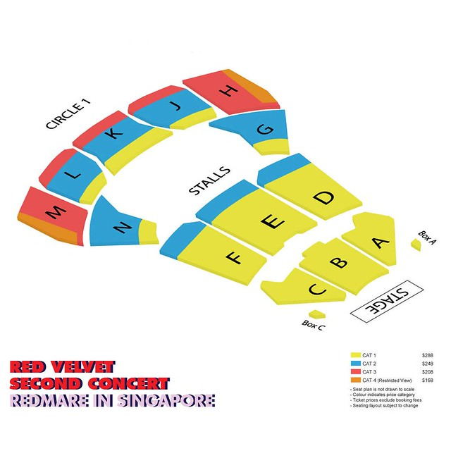 Red Velvet 'REDMARE' Concert in Singapore Seating Plan