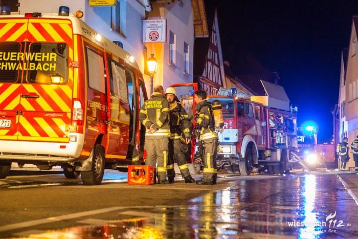 Brand mehrerer Scheunen in Schwalbach