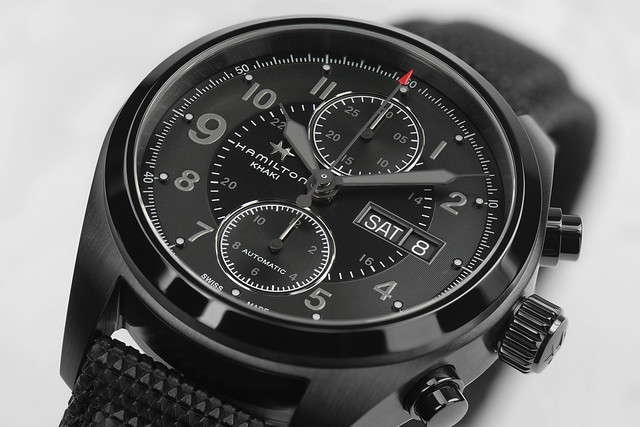 H71626735 Khaki Field Auto Chrono Detail 3