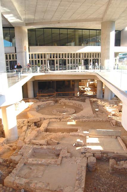 Built on an archaeological site
