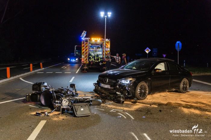 Tödlicher Motorradunfall B42 Eltville-Hattenheim 22.08.18