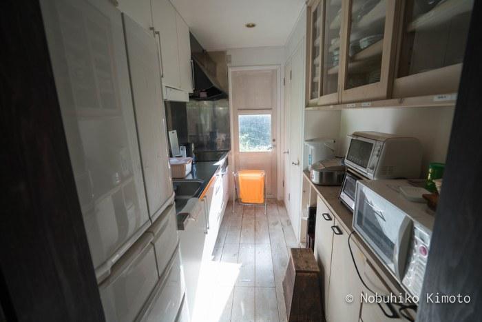 脱皮する家のキッチン