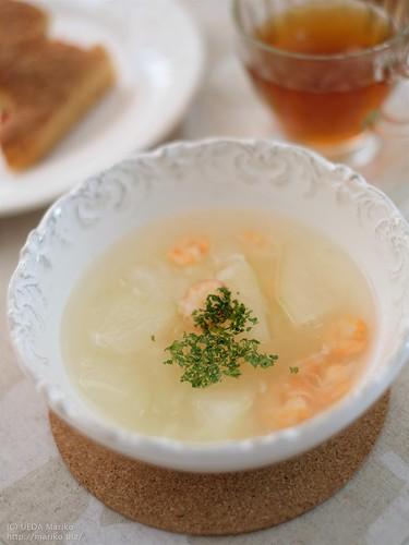 冬瓜と海老のスープ 20180818-DSCT1373 (2)