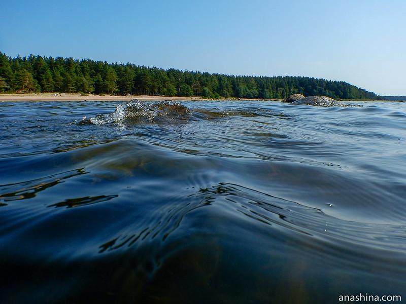 Валуны в воде, Балтийское море