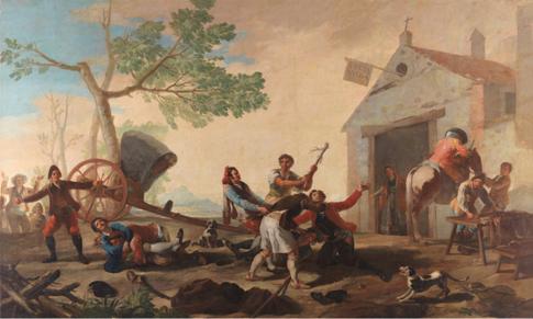 La riña en la Venta Nueva, 1777 Óleo sobre lienzo, 275 x 414 cm