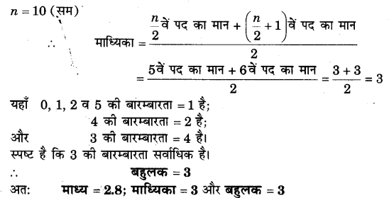 NCERT Solutions for Class 9 Maths Chapter 14 Statistics (Hindi Medium) 14.4 1.1
