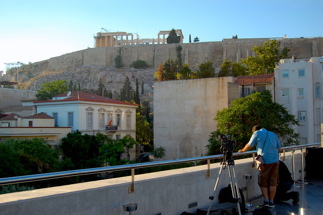 View of Parthenon from the museum