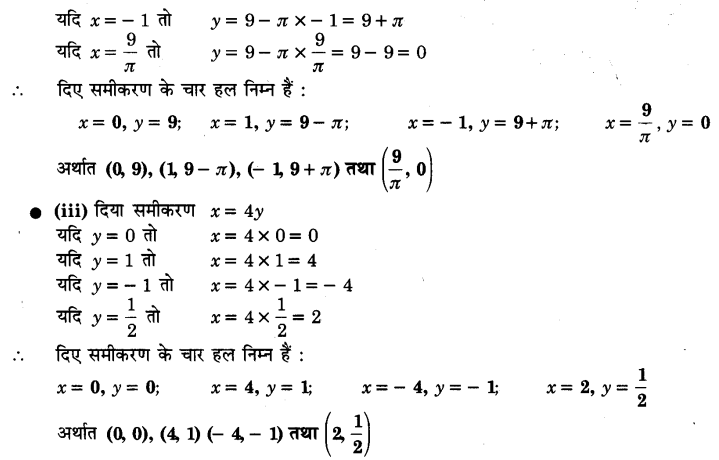 UP Board Solutions for Class 9 Maths Chapter 4 Linear Equations in Two Variables 4.2 2.1