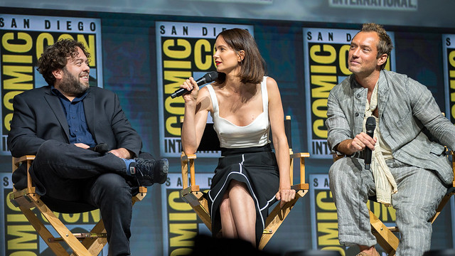 Dan Fogler, Katherine Waterston and Jude Law
