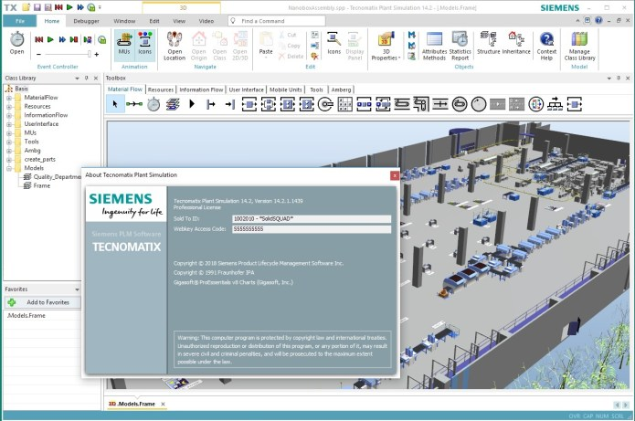 Working with Siemens Tecnomatix Plant Simulation 14.2 full license