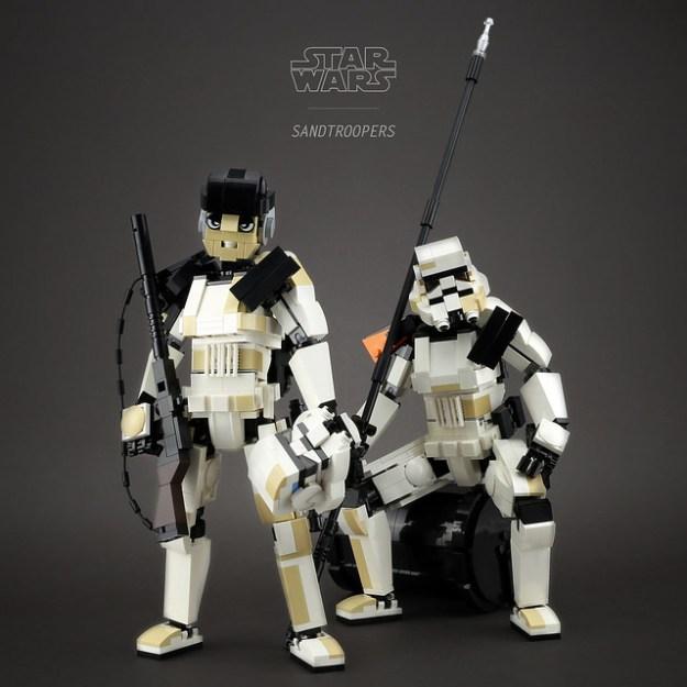 lego sandtrooper how to build