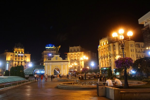 Maidan Nezalezhnosti (Independence Square) by night