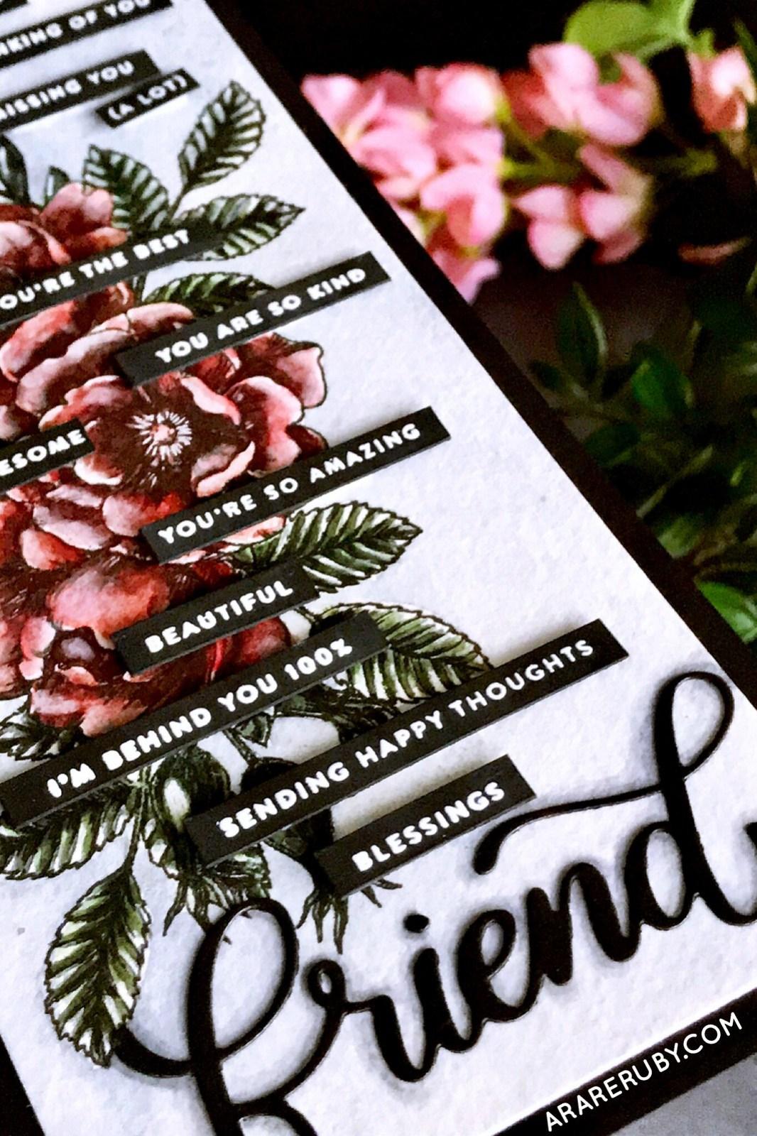 Simon Says Stamp STAMPtember 2018 - Tiny Words - Beautiful Flowers - Rubeena Ianigro