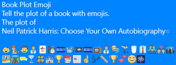 Book Plot emoji image for Neil Patrick Harris: Choose Your Own Autobiography