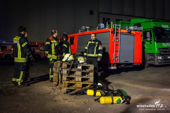 Anlagenbrand Raiffeisen-Kraftfutterwerk Schierstein 08.09.18