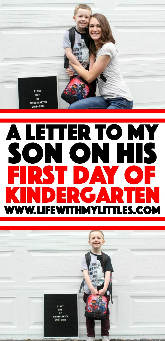 An open letter to my son on his first day of kindergarten. A great post on feeling all the feels, letting go a little bit, and knowing that it's going to be okay!