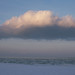 Winter sea. Cloud.