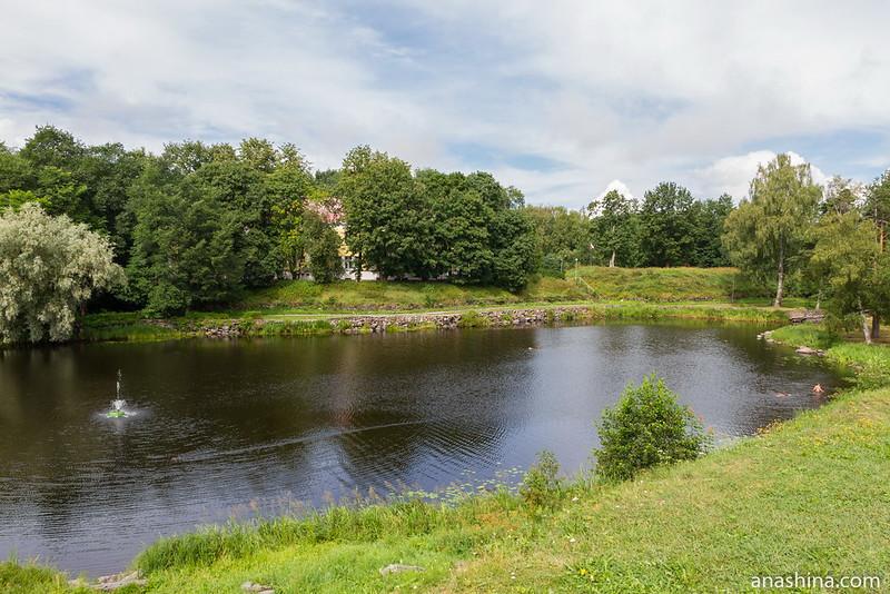 Река Вуокса между Старой и Новой крепостями, крепость Корела, Приозерск