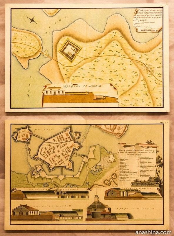 План Перновского редута и крепости Кексгольм
