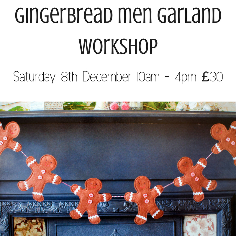 Gingerbread Men Garland workshop