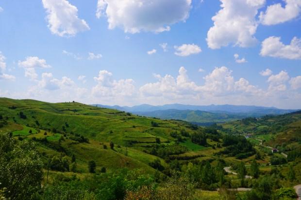 Green hills in Maramureș