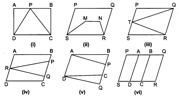 UP Board Solutions for Class 9 Maths Chapter 9 Area of ​​Parallelograms and Triangles (समान्तर चतुर्भुज और त्रिभुजों के क्षेत्रफल)