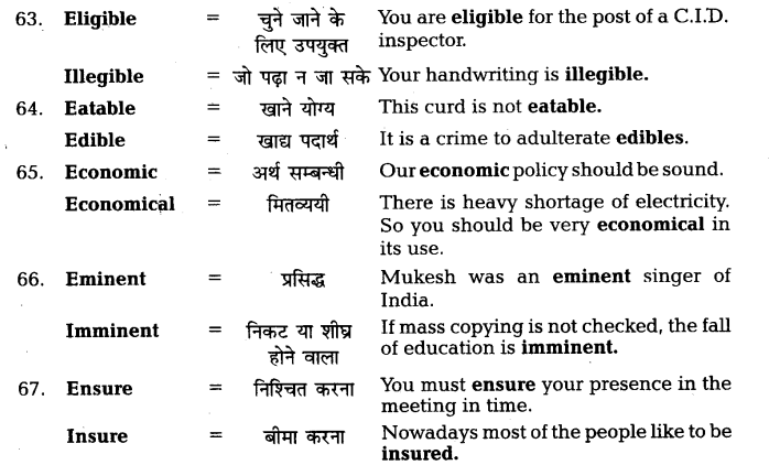 UP Board Solutions for Class 11 English Vocabulary Chapter 7 Homophones 17