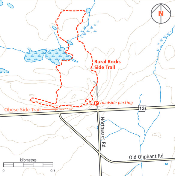 Rural Rocks Trail Map