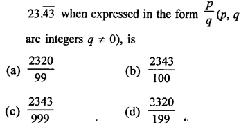 RD Sharma Class 9 Solutions Chapter 1 Number Systems - 1.mcq .16