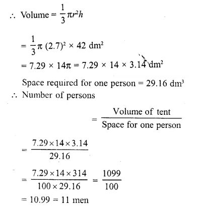 RD Sharma Class 10 Solutions Chapter 14 Surface Areas and Volumes  RV 12