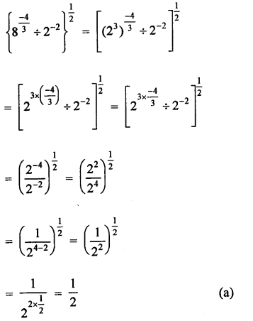 RD Sharma Class 9 Solutions Chapter 2 Exponents of Real Numbers MCQS - 16a